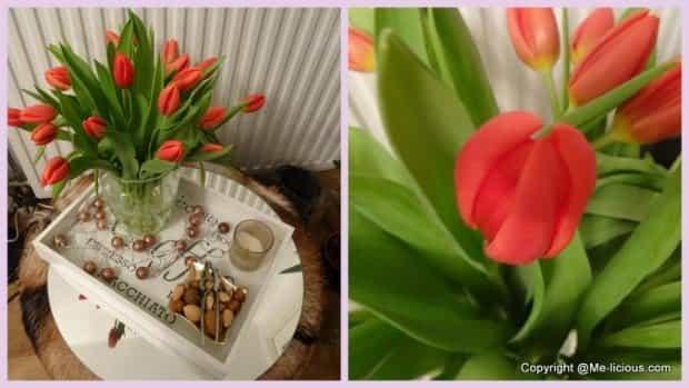 Mijn iterieur met tulpen