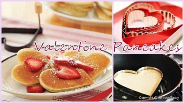 Valentijn hear pancakes