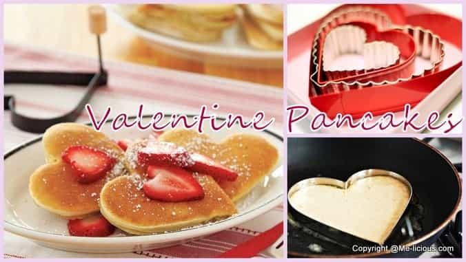 recept Heart pancakes voor je valentijn