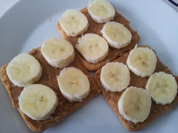 cracker pindakaas banaan & honing