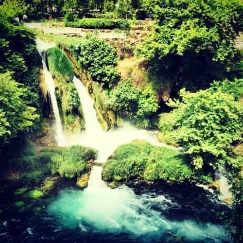 Eén van de Düden watervallen