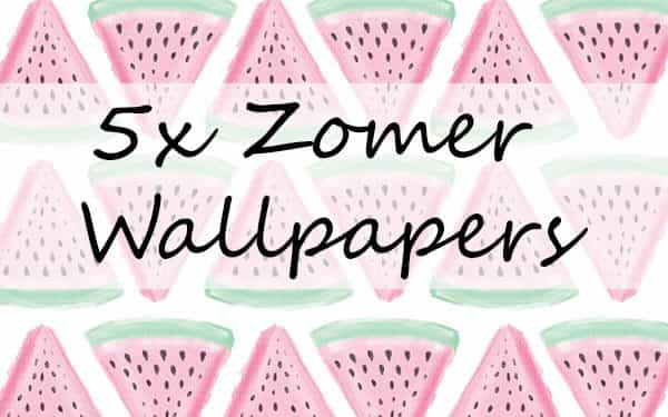 5x zomer wallpapers