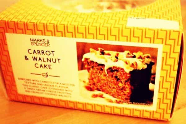 mark&spencer carrot & walnut cake
