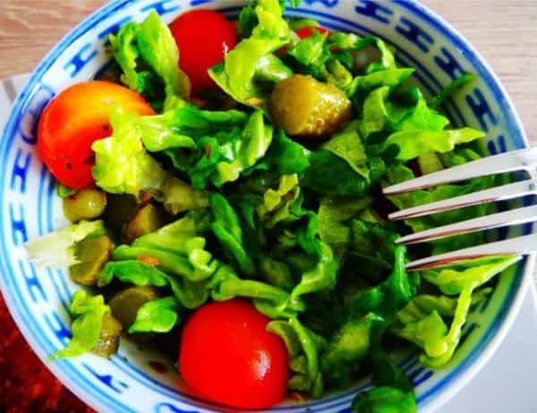 Crunchy kipfilet en salade