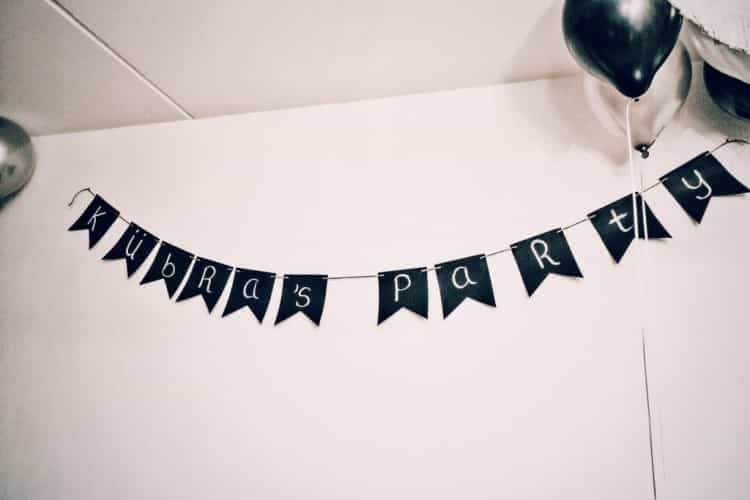 Thema verjaardag feest sen gifts verjaardagsslinger