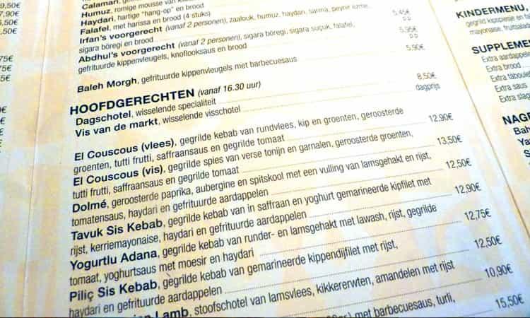 Restaurant-Bazaar-Rotterdam-Menu