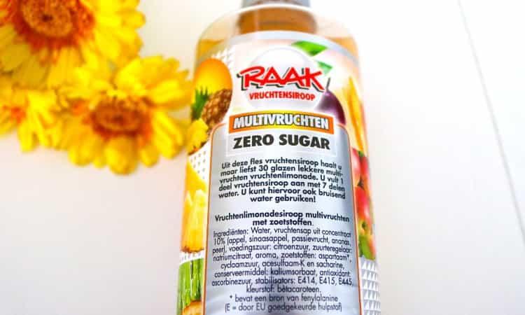 Raak zero sugar vruchten siroop