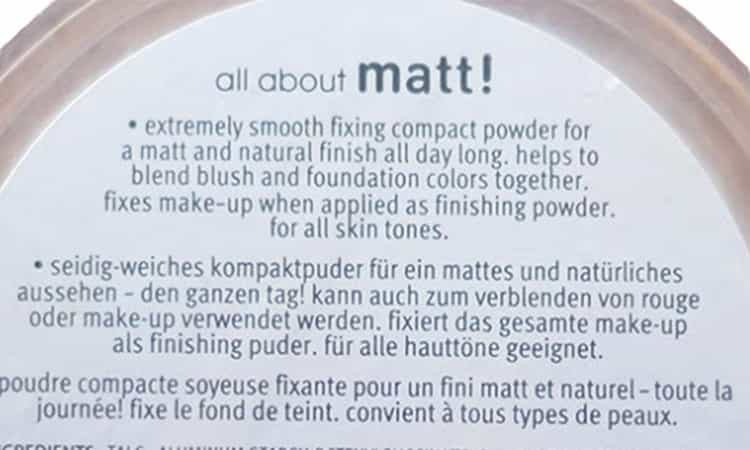 Essence all about mat fixing powder
