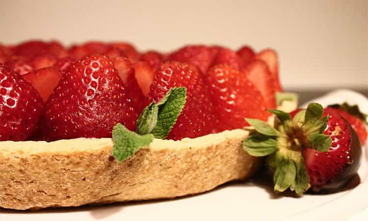 Gezonde aardbeien taart