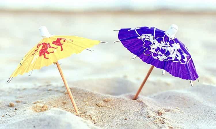tips voor warme dagen - parasolletjes