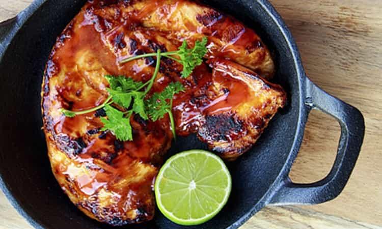 Kip in Honing BBQ marinade