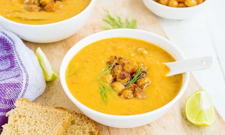 Pompoen soep met pit