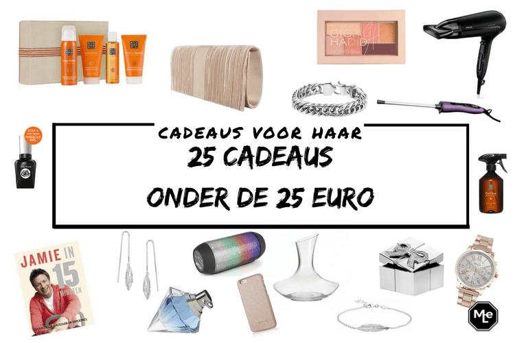 25 cadeaus voor haar onder de 25 euro