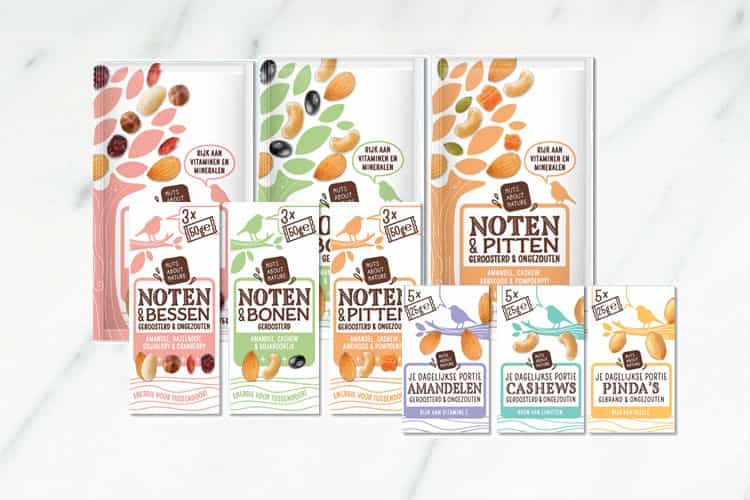 Nuts About Nature - Notenmixen en portiezakjes + WIN