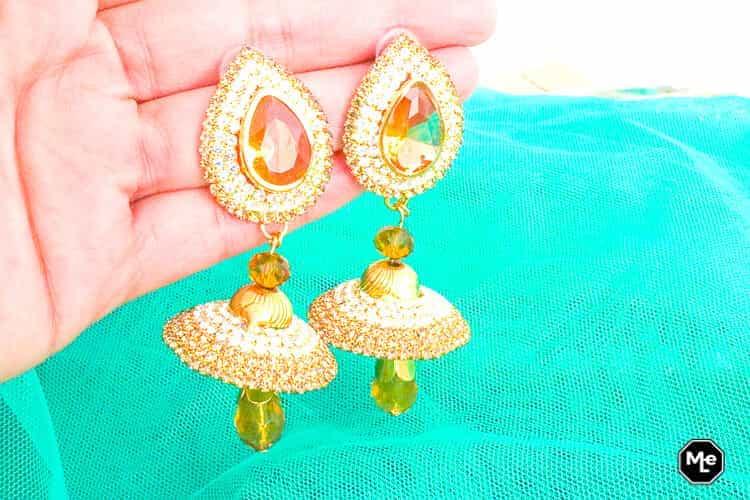 Henna, Mehndi, Kina Gecesi outfit Salwar Kameez - oorbellen