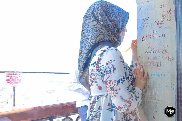 Bezienswaardigheden in Istanbul - galata toren liefdesverklaring