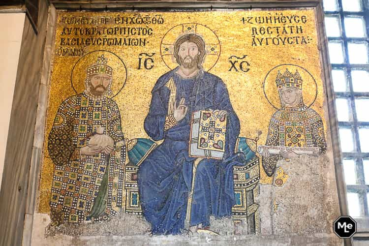 Bezienswaardigheden in Istanbul-Aya Sofya christelijke schilderingen
