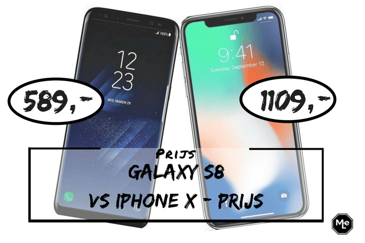 Samsung Galaxy S8 of een Iphone X