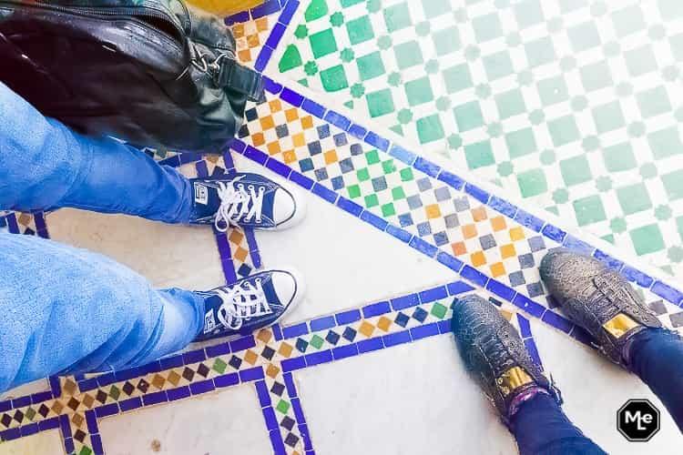 Marrakech travel report-Bahia Paleis zellij tegel