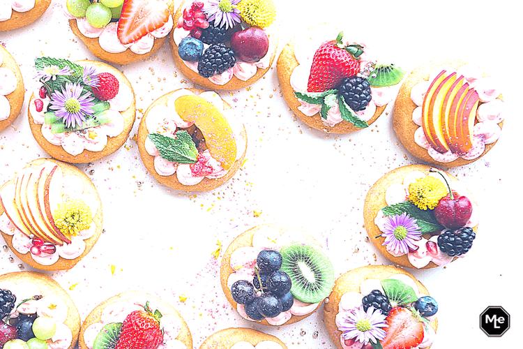 frisse fruittaart koekjes