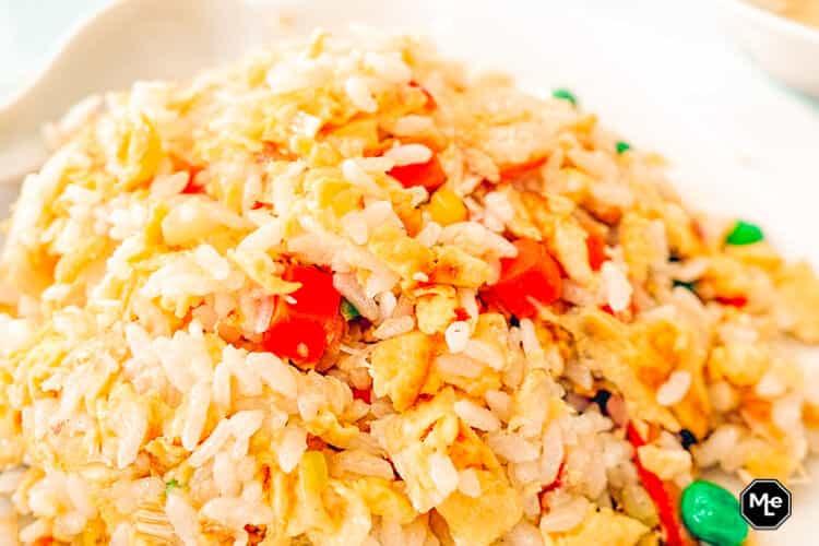 opgebakken rijst met groente recept