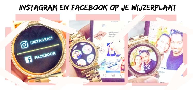 Instagram en facebook op je wijzerplaat