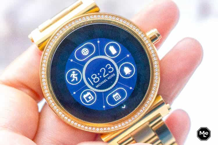 Michael Kors Acces Sofie smartwatch - wijzerplaat widgets