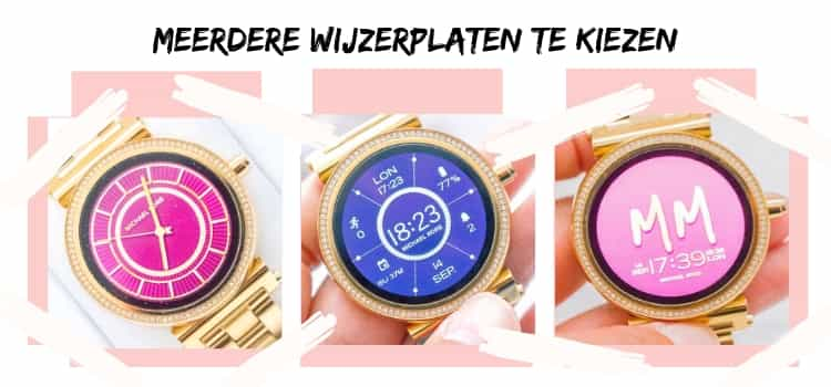 Michael Kors Acces Sofie smartwatch-wijzerplaten