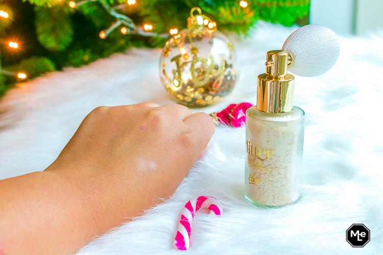 Etos Limited Edition Christmas Glitter Body Puff swatch, zonder uitsmeren