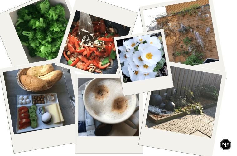ontbijt bij Yinek, avondeten en onze tuin