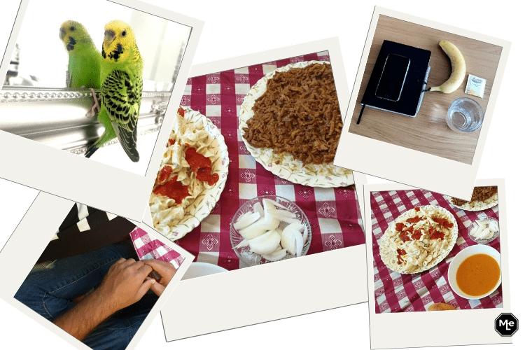 snoepie, avond eten en mijn bureau