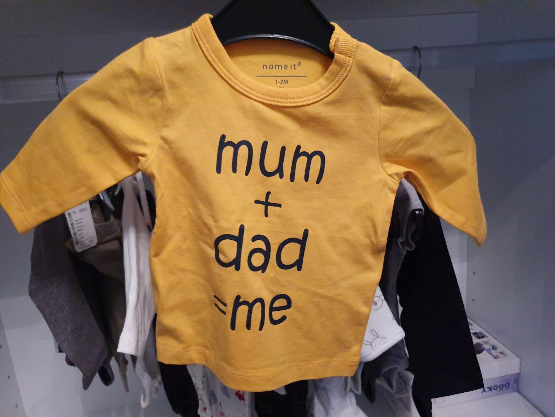 prental geel baby t-shirt