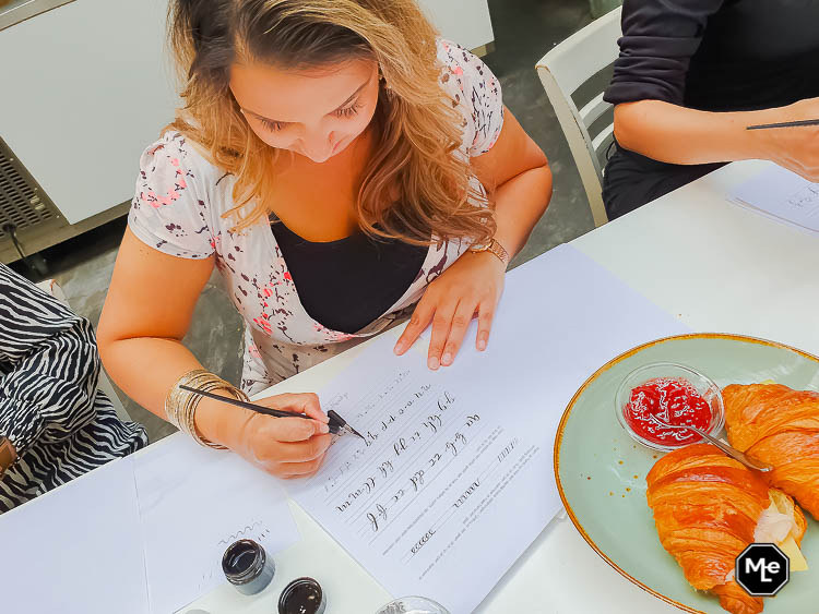 kalligrafie oefeningen maken