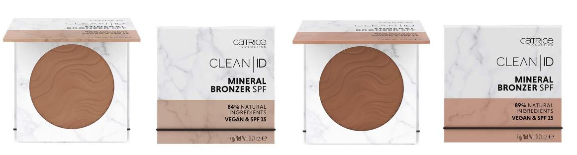 catrice clean id mineral bronzer - 010 Light/Medium & 020 Medium/Dark