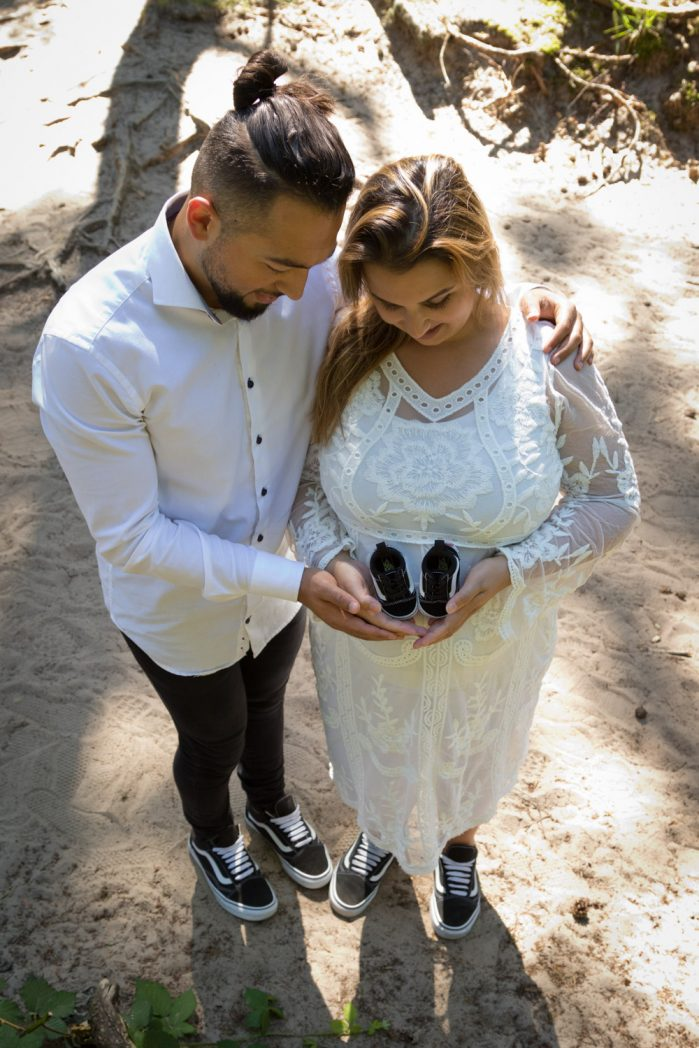 mijn zwangerschapsshoot - abdullah en mariëlle houden vans vast
