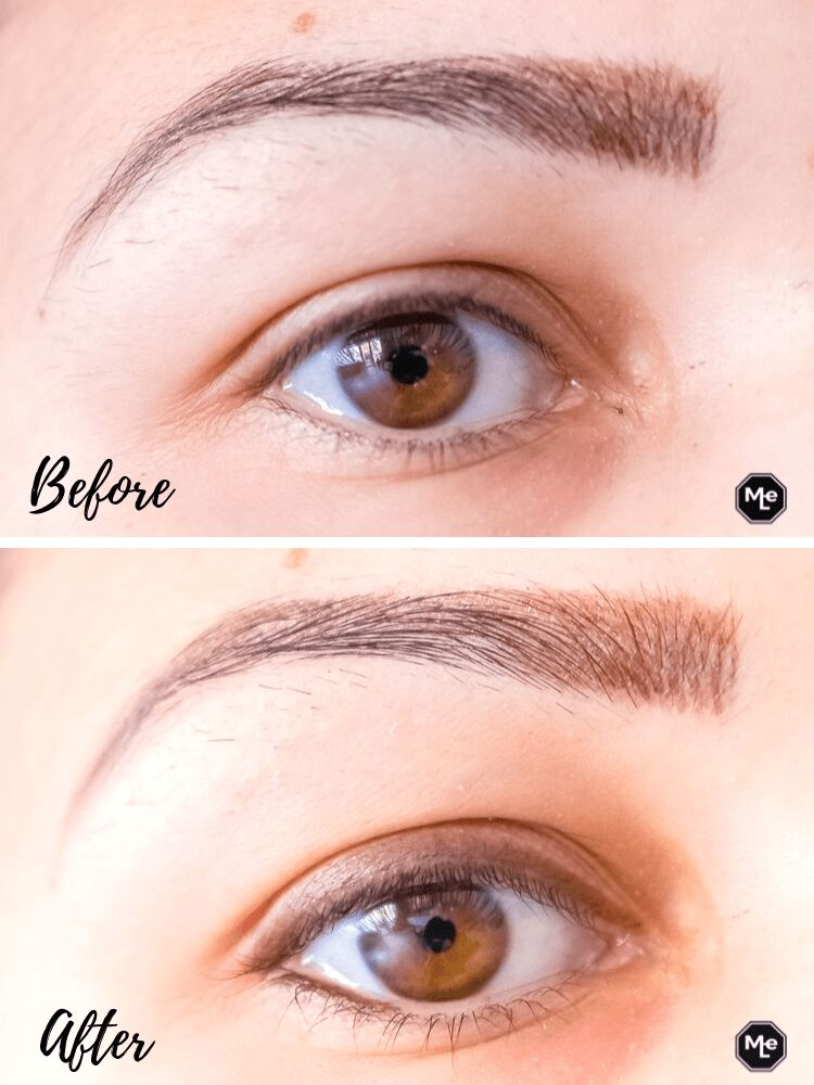 ooglid before and after Kohl Kajak oogpotlood chocwaves
