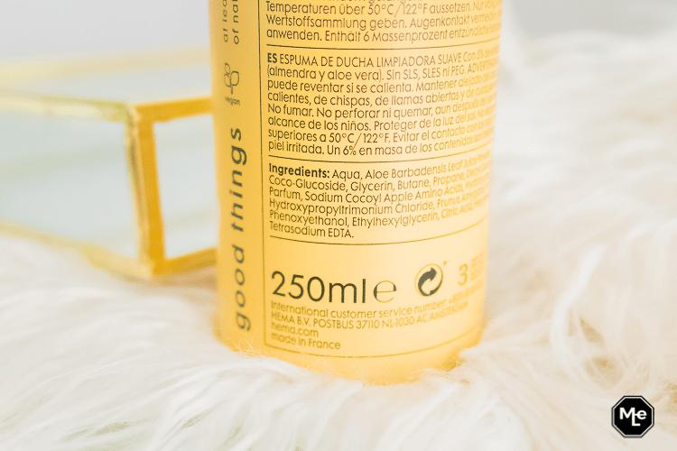 HEMA Shower Mousse Amandel ingrediënten