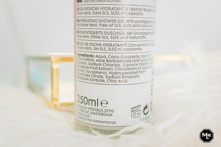 HEMA Shower gel Granaatappel ingrediënten