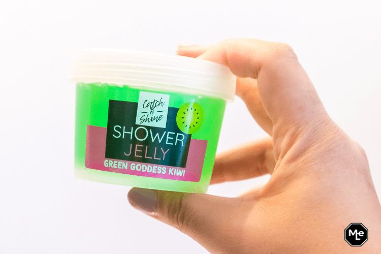 Kruidvat Catch en Shine Shower Jelly - green goddes kiwi