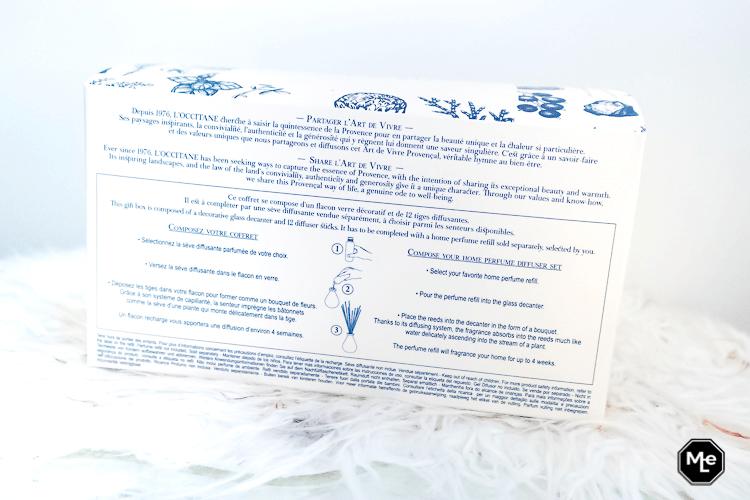 L' occitane Home Collectie Souffle de Liberté - Huisparfum verpakking achterkant