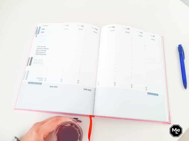 Weekplanning in de Purpuz Planner