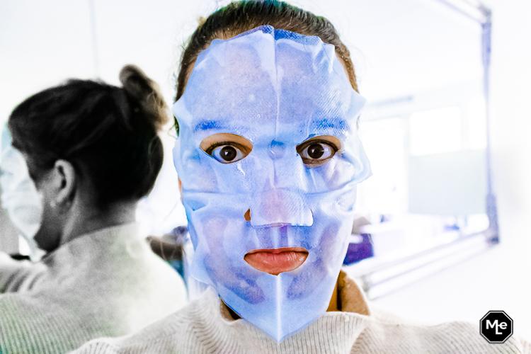 Garnier Skinactive Hydra Bomb Masker op mijn gezicht