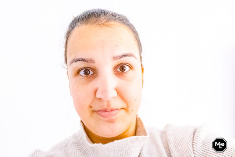 Mijn gezicht na het gebruik van het Garnier masker