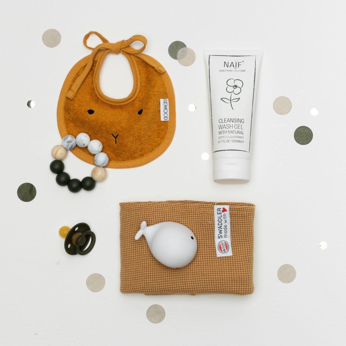 inhoud Babypark Giftbox Deep Green / Mustard