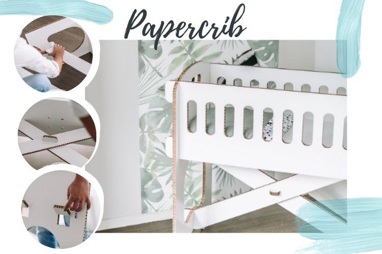 papercrib wiegje van karton