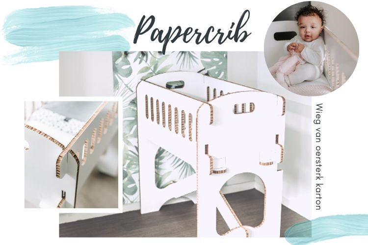 papercrib kartonnen wieg
