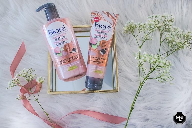 Bioré rose quartz + houtskool cleanser + scrub