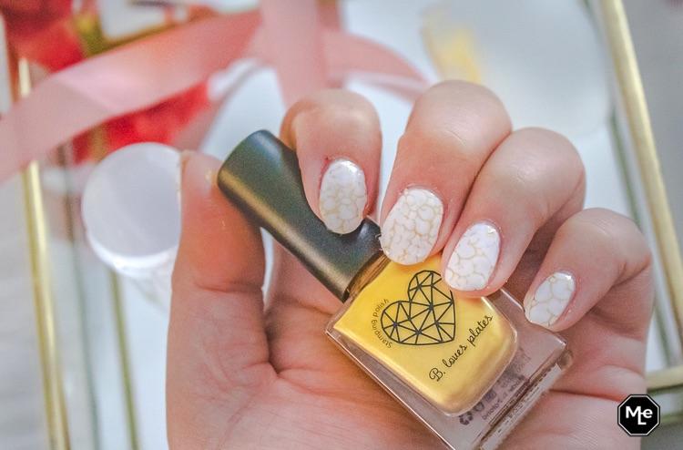 stempellak van B. Loves Plates + nagels