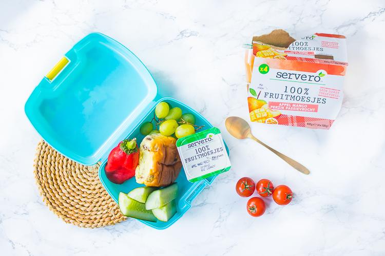 Gezonde broodtrommel Servero 100% Fruitmoesjes