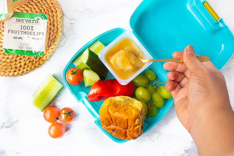 Servero 100% Fruitmoesjes - Appel mango perzik passievrucht